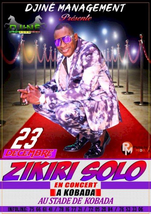 ZIKIRI SOLO EN CONCERT LIVE A KOBADA LE 23 DEC 2020