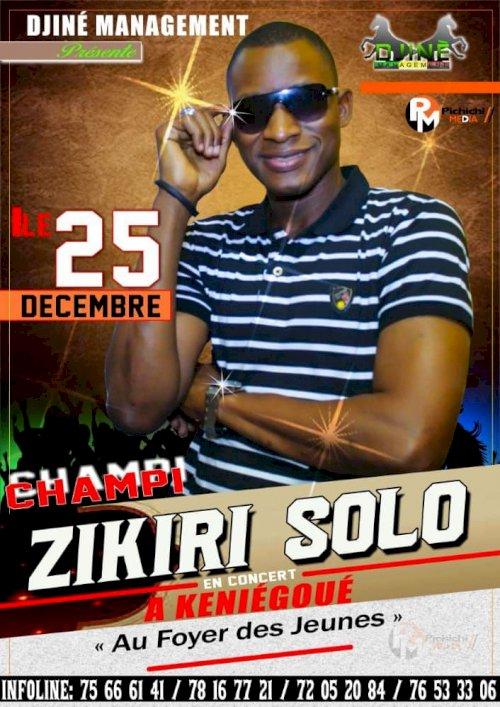 ZIKIRI CHAMPION EN CONCERT LIVE LE 25 DEC 2020